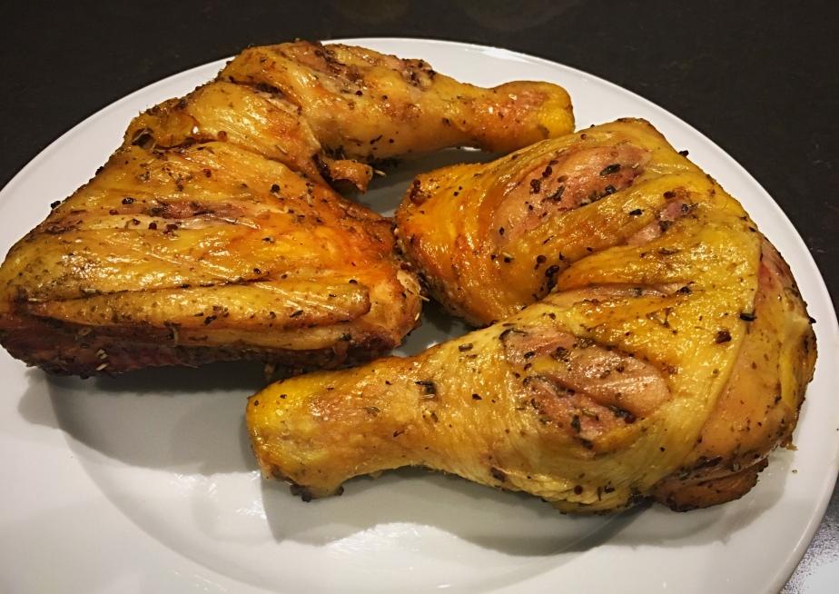 Muslos de pollo a la provenzal en BBQ