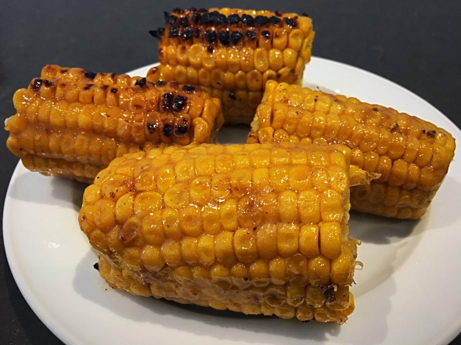 Mazorcas de maíz con glaseado de limón y jengibre